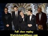 @Actors Robert Downey Jr. Chris Evans Mark Ruffalo Jeremy Renner and Samuel L. Jackson present onstage Oscars 2013