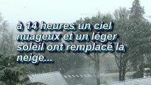 """"""" LE BULLETIN METEO DE MICHOU W-D.D """". - LES PREMIERS FLOCONS DE NEIGE DE L'HIVER TOMBENT SUR PAU - 11 FEVRIER 2013."""