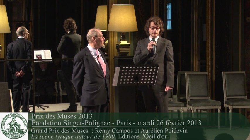 Prix des Muses 2013 – Grand Prix