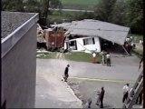 St-Joseph Beauce maison détruite par un camion de bière.       La maison de M, Georges Lessard