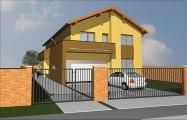 Proiect casa cu mansarda.Model casa cu mansarda.Proiect de casa mica. Casa mica cu mansarda. Casa mica noua.