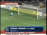 2005 (September 14) Sparta Prague (Czech Rep.) 1-Ajax Amsterdam (Holland) 1 (Champions League)