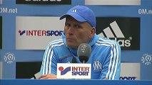 Conférence de presse Olympique de Marseille - ESTAC Troyes : Elie BAUP (OM) - Jean-Marc FURLAN (ESTAC) - saison 2012/2013