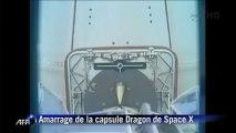 Espace: la capsule Dragon amarrée à la Station spatiale internationale