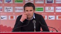 Conférence de presse Stade Brestois 29 - Olympique Lyonnais : Landry CHAUVIN (SB29) - Rémi GARDE (OL) - saison 2012/2013