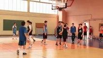 Préparation du tournoi interligue de basket-ball pour la sélection Poitou-Charentes générations 1999