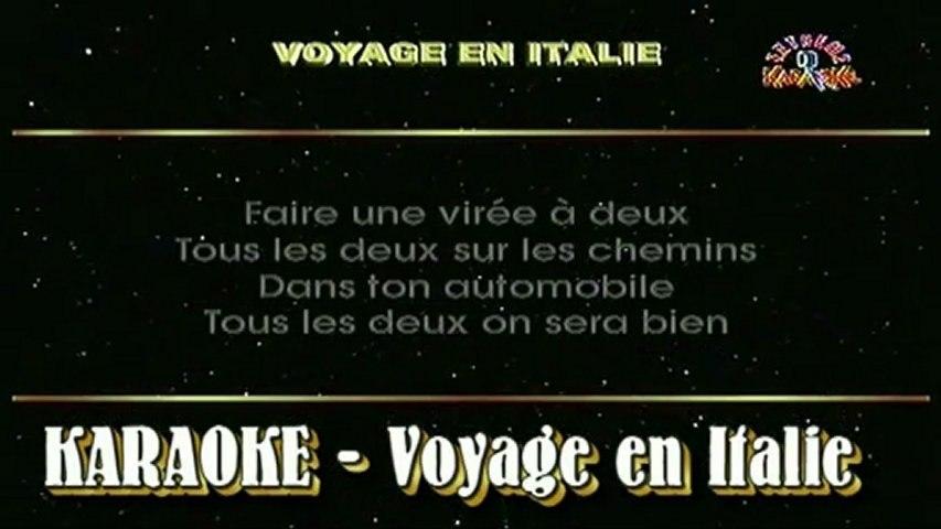 Voyage en Italie - karaoke chanté par Jean-Loup