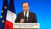 Discours du président de la République lors du déplacement à Blois