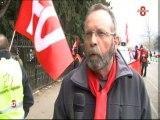Mobilisation de la force ouvrière et de la CGT à Annecy