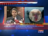 Political furore over cops brutality