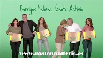 """Malena Alterio en el Making off de la campaña """"Barrigas felices"""" de Activia"""