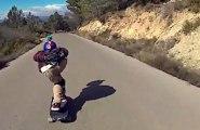 Skateboard - Downhill Skateboarding  - Raw Run @Salza Oriol and Aleix
