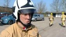 Fireman Ham: Pig used to help firefighter training