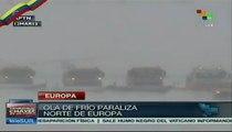 Ola de frío paraliza el norte de Europa