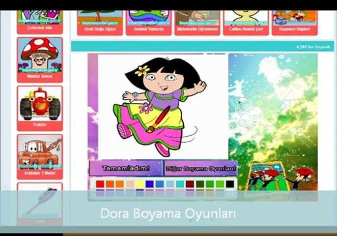 Dora Boyama Oyunlari Www Boyamaoyunlari Gen Tr Dailymotion Video