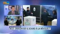BCE : Draghi est-il sourd à la révolte ? - 7 mars - BFM : Les décodeurs de l'éco 3/5