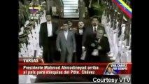 Iraniano Mahmoud Ahmadinejad chega a Caracas para velório de Chávez