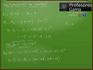 Multiplicación de números complejos