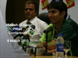 Misbah-ul-Haq Press Conference ahead of Pak-SA ODI series, 9 March 2013, Bloemfontein