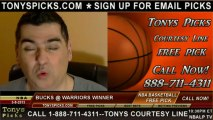 Golden St Warriors versus Milwaukee Bucks Pick Prediction NBA Pro Basketball Odds Preview 3-9-2013