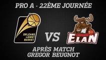 Réaction de Grégor Beugnot - J22 - Réception de Chalon