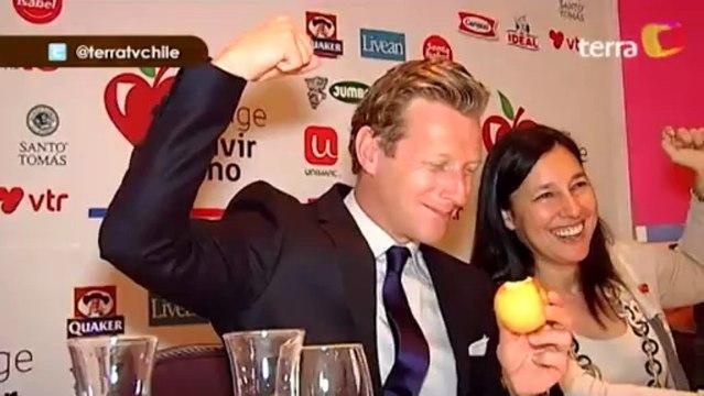 """""""Sportacus"""" llega a Chile y anuncia spot con Cecilia Morel (Chile 2012)"""