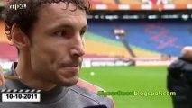 Van der Vaart en van Bommel over Televizier nominatie van Johan Derksen