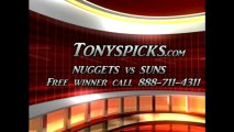 Phoenix Suns versus Denver Nuggets Pick Prediction NBA Pro Basketball Odds Preview 3-11-2013