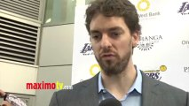 Pau Gasol Interview Lakers Casino Night After Lakers-Bull Game March 10, 2013