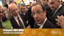 Les céréales vues par François Hollande