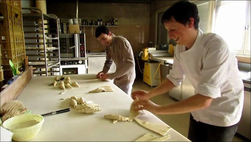 Réalisation de croissants pur beurre en grande vitesse, Lionel et Cyril