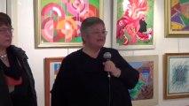 Vernissage de l'exposition Michèle Lavalette