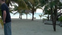 Living in Belize is living! Exotic Caye Beach Resort sand