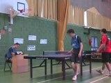 Tennis de Table - MORIN Pierre VS BATISSE Pierre Part1