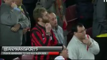 AC Milani fänn Barcelona fännisektoris pärast neljandat väravat.