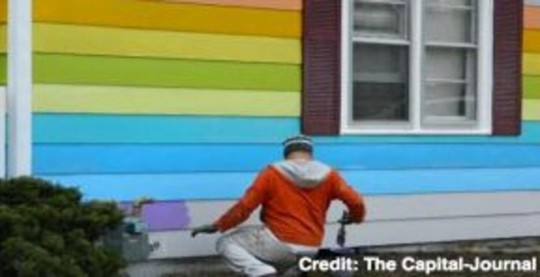 Non-Profit Paints Rainbow House by Westboro Baptist Church