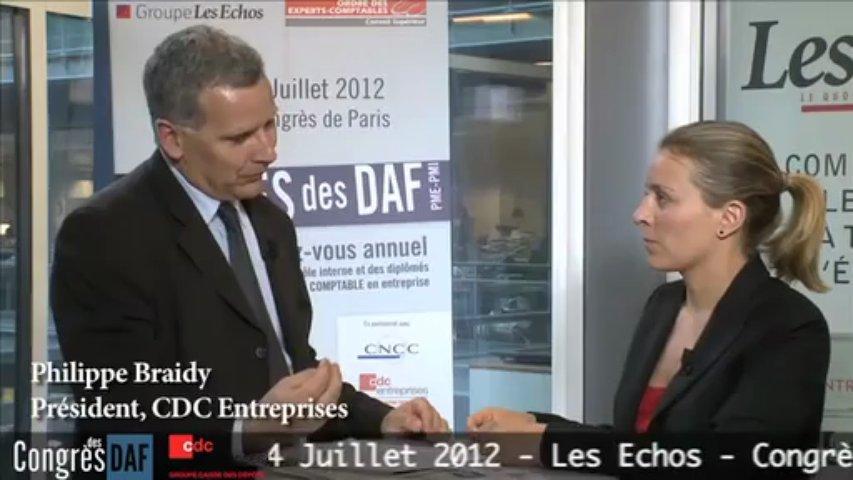 Philippe BRAIDY, Président – CDC Entreprises
