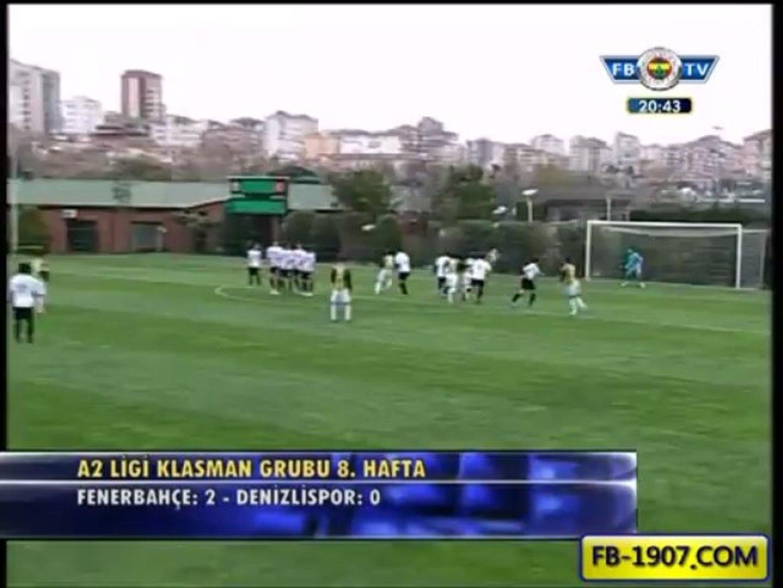 Recep Niyaz'dan harika frikik golü Fenerbahçe Denizlispor Maçı 1.Gol Recep Niyaz Dakika 62
