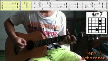 How To Play I Would - Justin Bieber Guitar Chords Tabs Tutorial Lesson