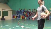 Les joueurs du Stade Poitevin de Volley au Collège Arsène Lambert à Lencloître