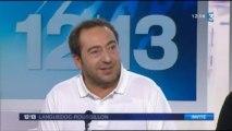 Une chanson pour ma mère de Joël Franka avec Patrick Timsit plateau JT France 3 Languedoc-Roussillon