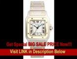 [BEST BUY] Cartier Men's W20011C4 Santos Galbee Stainless Steel and 18K Gold Watch