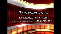 San Antonio Spurs versus Cleveland Cavaliers Pick Prediction NBA Pro Basketball Odds Preview 3-16-2013