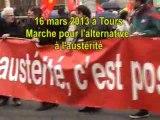 L'alternative à l'austérité c'est possible : 16 mars 2013 Tours