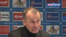 Ligue 1 / Les réactions de R. Girard et J-M. Furlan après Montpellier - Troyes - 16/03