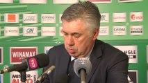Carlo Ancelotti réagit après le nul entre l'ASSE et le PSG