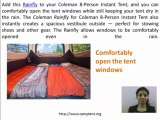 Camp Tent Reviews: Coleman Rainfly For Coleman 8-Person Instant Tent Review