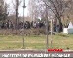 Hacettepe'de eylemcilere polis müdahale etti