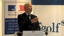 """Charte """"Golf et Environnement"""" - Discours du président de la Fédération française de golf, Georges Barbaret"""