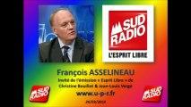 François Asselineau: Projet de Loi FIORASO & Francophonie dans « Le 18-20 de Sud radio »